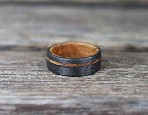 Whiskey Barrel and Carbon Fiber Ring