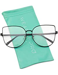 Clear Thin Frame Oversized Delicate Non- Prescription...