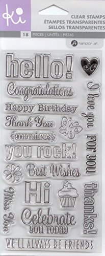 (Hampton Art - KI Clear Stamps - Everyday Sayings - Birthday, Congratulations)