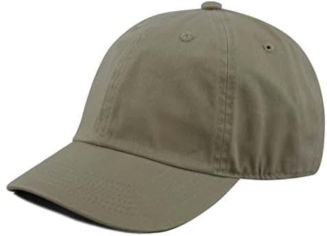 The Hat Depot Kids Washed Low Profile Cotton and Denim Plain Baseball Cap Hat