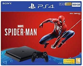 PS4 Slim 500Gb Negra Playstation 4 + Spiderman [Importación ...
