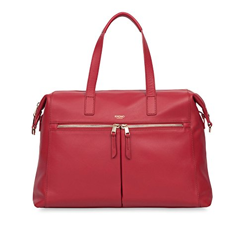KNOMO Audley Slim Leather 14'' Laptop Handbag by Knomo