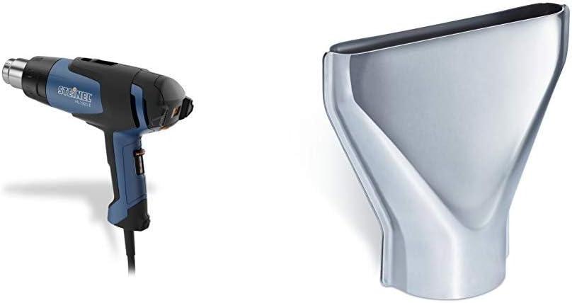 Steinel HL 1920 E - Pistola de aire caliente, Potencia de 2000 W, Temperatura de 80-600 °C + Steinel 070212 Tobera de dispersión, 75 mm