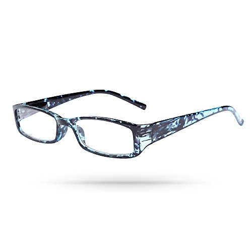 Classic Acrylic Rectangular Frame Unisex Reading Eyeglasses in Aqua Turquoise - In Mall Dartmouth Stores