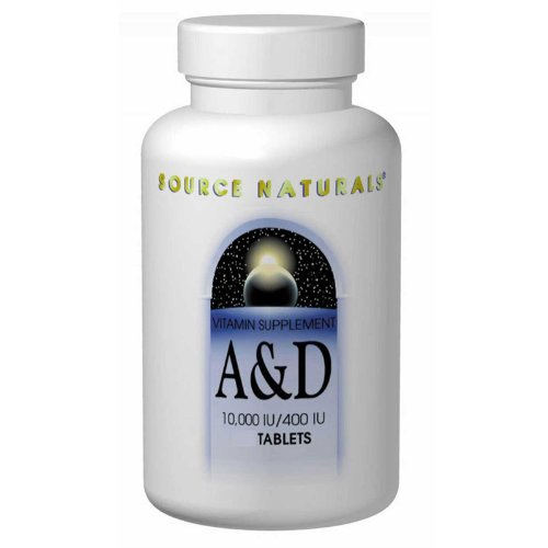 Vitamin A & D, 10000/400 IU, 250 Tabs by Source Naturals (Pack of 6) by Source Naturals