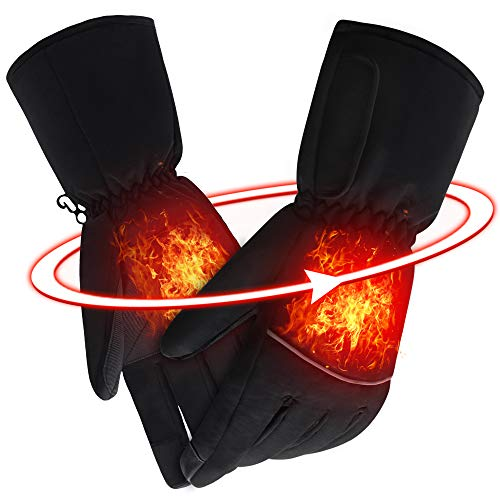 SVPRO Electric Heated Gloves Rechargeable Battery Powered Gloves Men Women Heating Hand Warmer Warm Winter Thermal Mitten Gloves for Cycling, Motorcycling, Fishing, Hunting, Skiing etc (Heated Glove Liners Battery)