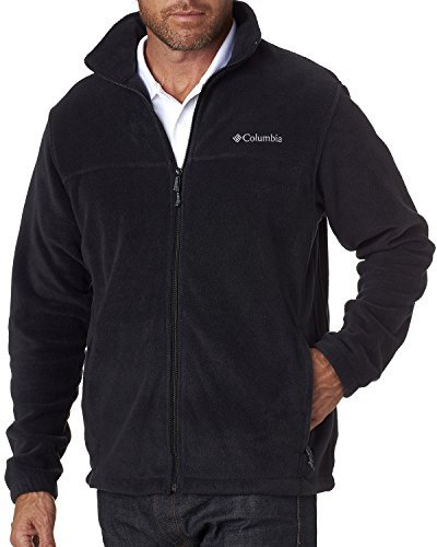 Columbia Men's Steens Mountain Front-Zip Fleece Jacket (Black 01, X-Large) by Columbia