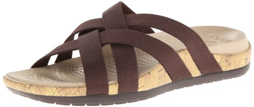 Crocs Womens Women's Edie Wedge Pump,Espresso/Espresso,11 M US by Crocs