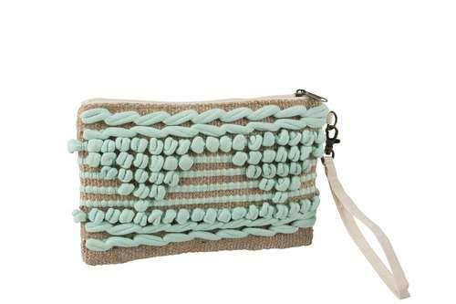 Menthe Crochetée Pochette Coton Pochette Menthe Pochette Crochetée Coton En En 5wqZW