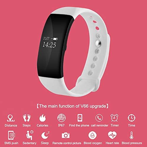 Lovelysunshiny V66 - Reloj Inteligente con Bluetooth, Impermeable ...
