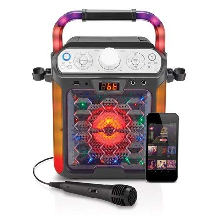 - Create Fun,Lasting,Singable Moments with Cool,Colorful and Exciting Singing Machine Karaoke Cube Multi-Function Karaoke System with Dancing Lights,Makes a Great Gift