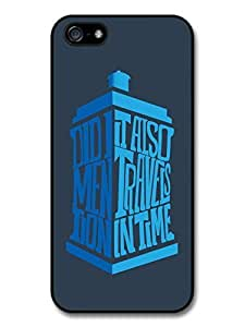 AMAF ? Accessories Doctor Who Tardis Minimalist TV Series Quote case for iPhone 5 5S