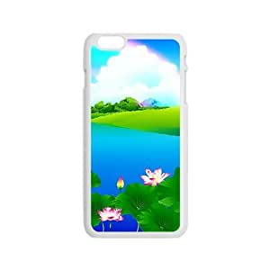 Andre-case Beautiful summer lotus pond rainbow cell phone case cover for O2tI48t5pC0 iPhone 4s