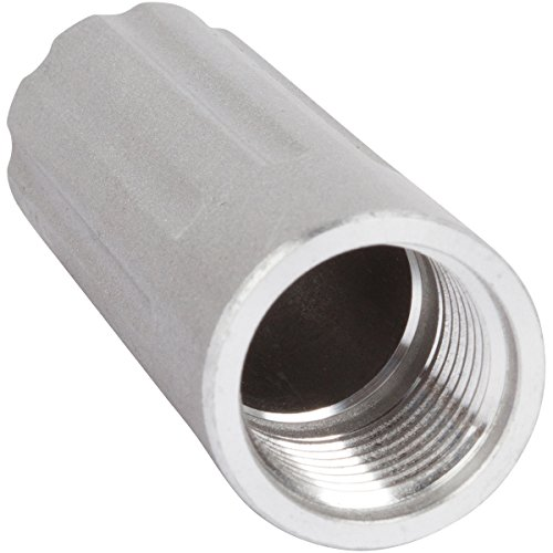 Whipped Cream Dispenser Cartridge Holder Replacement - Threaded Cap - Smooth Brushed Metallic