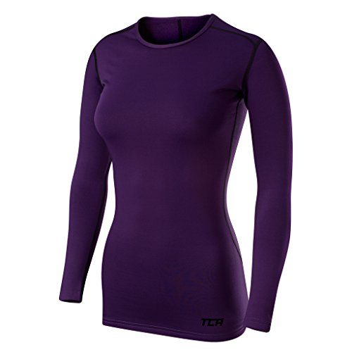 TCA Women's SuperThermal Long Sleeve Performance Base Layer Running Training Top - Galaxy, S