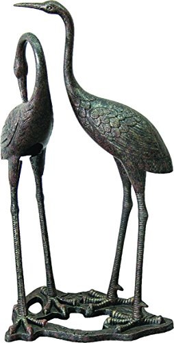Pond Sculpture - Innova Hearth and Home C880-71 Heron Statue, Aged Bronze