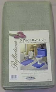 Amazon.com: 5 PIECE SAGE GREEN BATHROOM RUG SET, INCLUDES