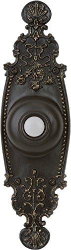 Doorbell Craftmade Designer - Craftmade PB3035-AZ Surface Mount Designer Lighted Push Button, Antique Bronze