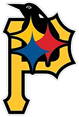 "PITTSBURGH Fan Sport Logo 4""x5.5"" Sticker Decal Vinyl STEELERS PENGUINS PIRATES"