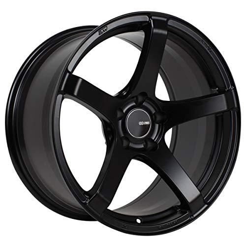 1 Enkei Kojin Wheel 18x8.5 5x100 +45 Matte Black Rim