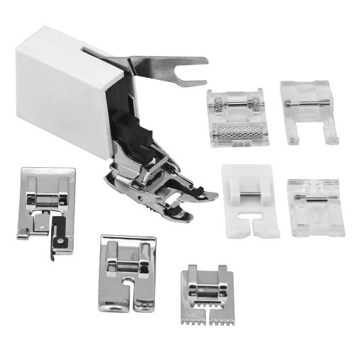 Hobby Sewing Machine Pfaff - Sew Perfect 8pc. UtilityPresser Foot Package for All Low Shank - Singer, Brother, Janome, Babylock, Toyota, Riccar, Jaguar, Simplicity, White, Viking(Husky series), Bernina(Bernette), Juki, Pfaff (Hobby series), Elna sewing machines and more !