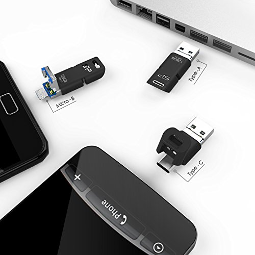 Silicon Power 64GB 3-in-1 USB 3.0 Flash Drive, USB A to Type-C Micro B PC, Mac, Smartphones Tablets by Silicon Power (Image #5)