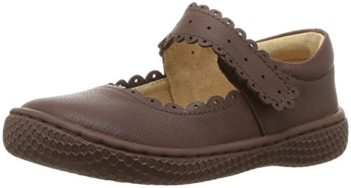 Livie & Luca Girls' Briar School Uniform Shoe, Mocha, 5 Medium US - Leather Footwear Mocha