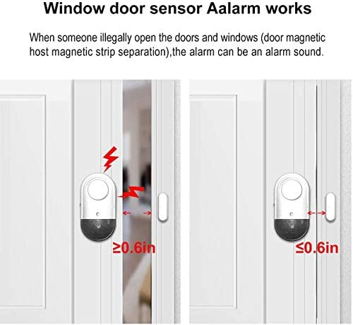 HUMUTU Door Window Alarms Magnetic Pool Window Security Alarms for Home 120DB Pool Alarms for Inground Pools