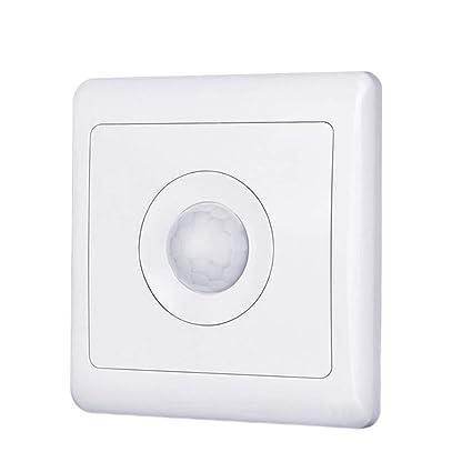 kakakooo Interruptor automático del Sensor de Movimiento inducción del Cuerpo Detector de Movimiento PIR Luz Interruptor