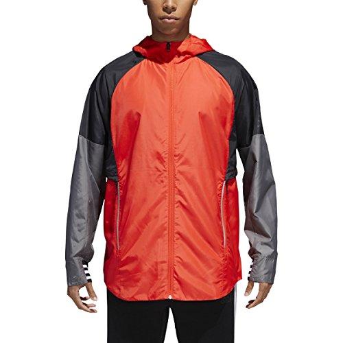 adidas Mens ID Hooded Jacket Red XL