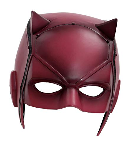 XCOSER DD Matt Mask Helmet Props for Adult Halloween Costume PVC Red -