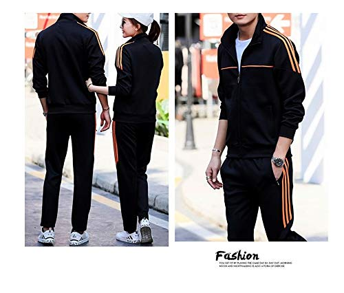 3a46739725f A Spring Sports and Leisure Suits for Men and Women Couples Sportswear(Black