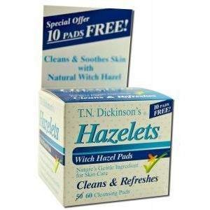T.N. Dickinson: Witch Hazel Hemorrhoidal Pads, 100 pads (6 pack) by Dickinson Brands