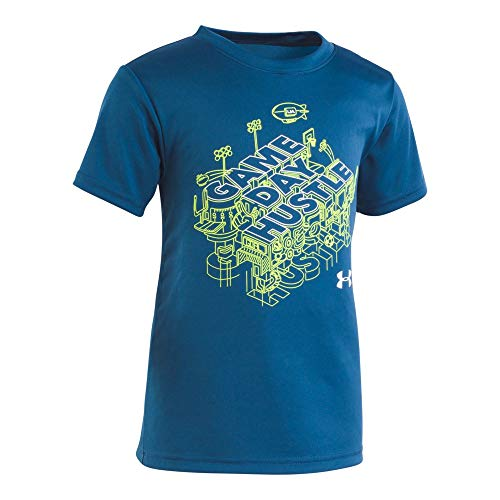 Under Armour Boys' Little Attitude Ss Tee Shirt, Petrol Blue 42, 7