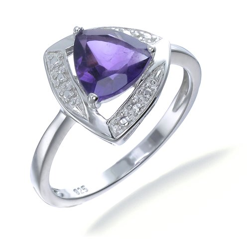 Sterling Silver Amethyst Ring 1 CT