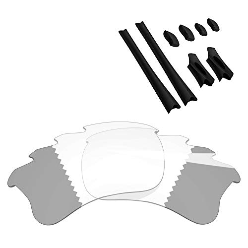 BlazerBuck Anti-salt Replacement Lenses & Sock Kit for Oakley Flak Jacket XLJ - Vented Clear Black ()