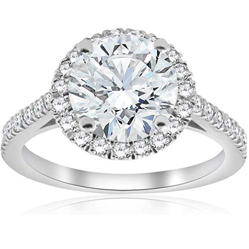 2.01 CT (CEN: 1.53 CT) NATURAL EGL CERTIFIED ROUND DIAMOND ENGAGEMENT/WEDDING 950 PLATINUM RING G-H/VVS (1.53 Ct Natural)