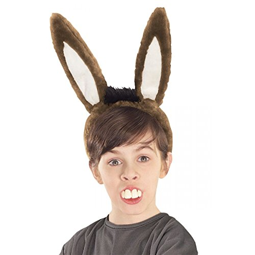 Donkey Ears & Teeth Costume Accessory Set Kids Shrek Halloween (Shrek Costume Ideas)