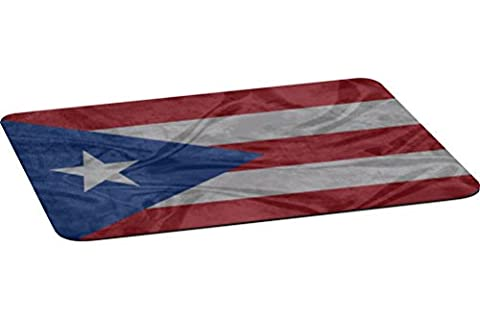 Rikki Knight Puerto Rico Flag Large Non-Slip Fabric Top Table Place Mats with Rubber Backing (One place - Puerto Rico Kitchen