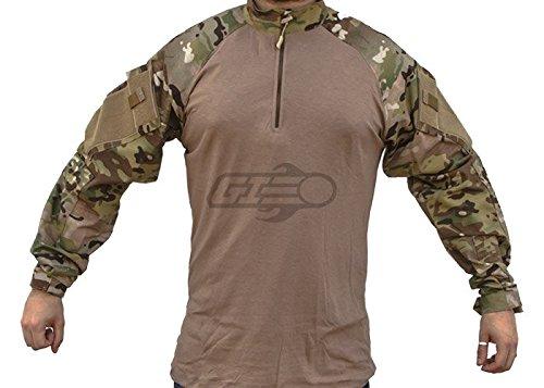 Tru-Spec 65/35 Polyester/Cotton Rip-Stop 1/4 Zip Tactical Response Combat Shirt Multicam/Coyote Large