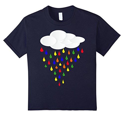 Kids Rainbow Drop Cloud Shirt, Weather Halloween Costume Gift 8 Navy