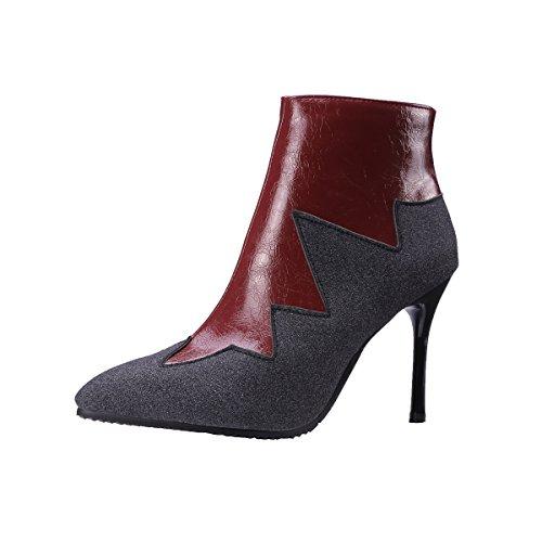 Zipper Stiletto wine 6 Red Vaneel vbn12 Women UK 5 5CM 9 Boots wqqXSIB