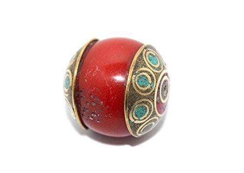 (Handmade Nepalese Tibetan Turquoise Coral Beads)
