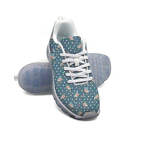 Faaerd Inverno Vintage Blu Uccelli Polka Dot Anima Mens Moda Leggero Cuscino Daria Scarpe Da Ginnastica Sneakers Scarpe Da Ginnastica