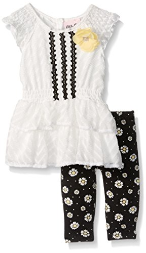 Little Lass Baby Girls' 2 Pc Daisy Capri Set, Ivory, 24M (Clothes Girls Baby Capri)