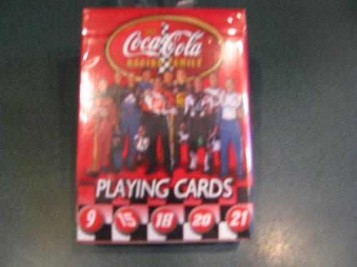 NASCAR Coca Cola Racing Family Playing Cards Elliott 9, Waltrip 15, Labonte 18, Stewart 20, Rudd 21, Harvick 29, Petty 45, Jarrett 88, Busch 97, Burton 99