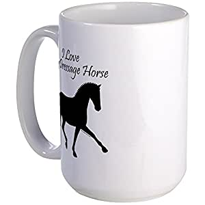 CafePress - Love My Dressage Horse Large Mug - Coffee Mug, Large 15 oz. White Coffee Cup