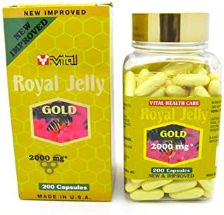 New Improved Super Extra Gold Royal Jelly 200 Capsules 2000mg