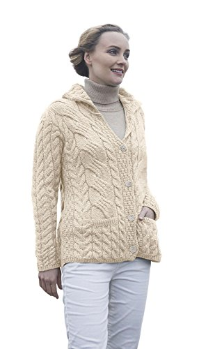 ladies-irish-buttoned-cabled-super-soft-merino-wool-cardigan