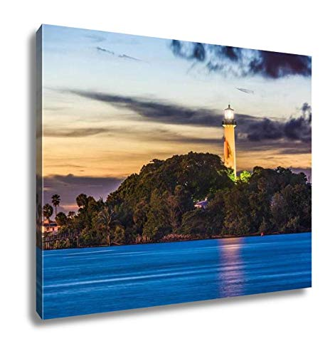 Ashley Canvas, Jupiter Florida Lighthouse, Home Decoration Office, Ready to Hang, 20x25, AG6455302